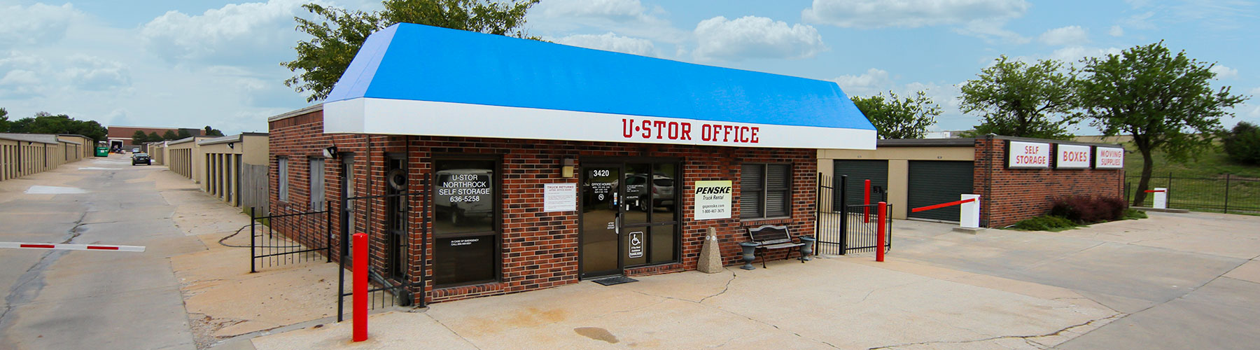 U-STOR Northrock is located at 3420 N. Rock Rd, Wichita, KS. Call 316-616-6876 for information.
