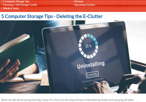 U-Stor May Newsletter - 5 Computer Storage Tips, Choosing a Self-Storage Facility and MORE