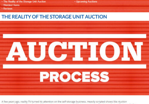 U-Stor June Newsletter - The Reality of the Storage Unit Auction