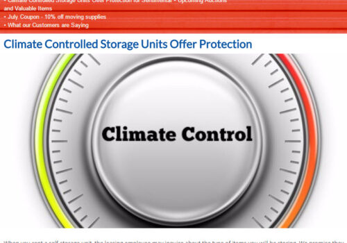 July Newsletter - Climate Controlled Storage Units Offer Protection for Sentimental and Valuable Items