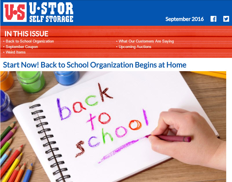 U-Stor August Newsletter - U-STOR Spotlight - Waynetta from George Washington Boulevard