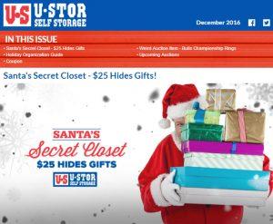 December Newsletter - Santa's Secret Closet, Holiday Organization Guide and MORE!