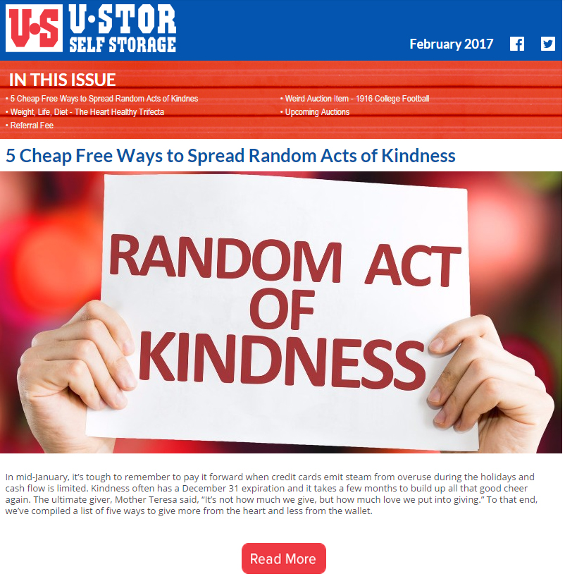 February Newsletter - Ways to Spread Random Acts of Kindness, The Healthy Heart Trifecta and MORE!