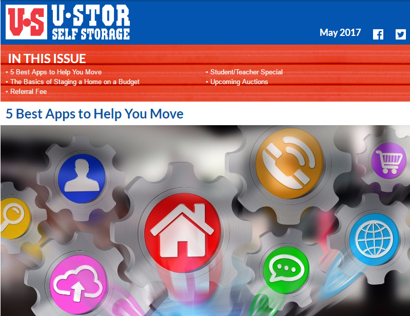 May Newsletter - Apps to Help You Move, The Basics of Staging a Home, and MORE!